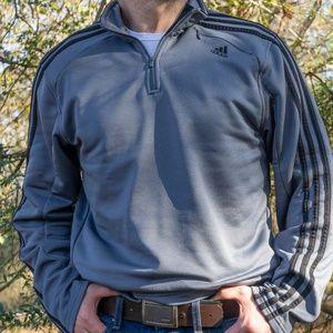 Adidas Quarter Zip Pull Over (gray)